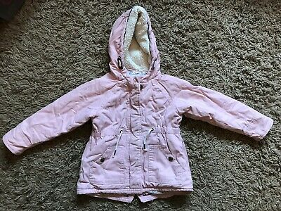 ASDA George Kids Girls Infants Winter Jacket Coat (Pink) Ages 3-4 Years