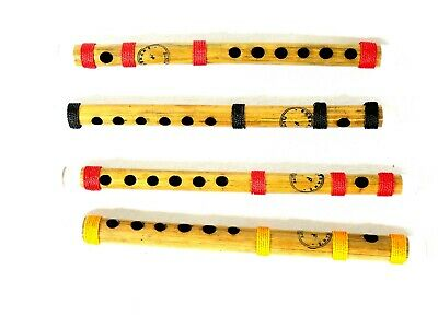 "15 Wholesale Lot Handmade Bamboo Flutes Made In India 10"" And 14"" Set Of 15"
