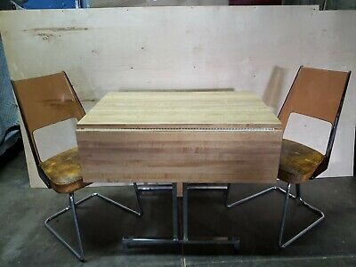 Vintage Daystrom Kitchen chairs table dinette set midcentury lucite