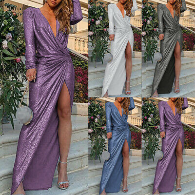 Women Dress Evening Maxi Formal Dress Cocktail Bodycon Sexy Party Gown