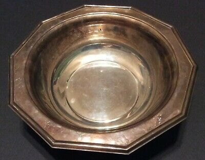 "The Sheffield Silver Co 10"" Round Silverplate Vegetable/Entree Serving Bowl 816g"
