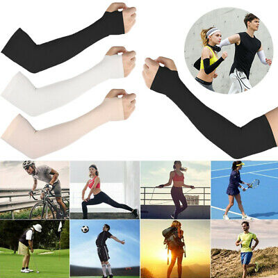 3 Pair Unisex Outdoor Sports Cooling Arm Sleeves Cover UV Sun Protection 31inch