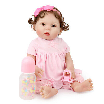 "16"" Reborn Baby Girl Doll Full Soft Body Vinyl Silicone Anatomically Gifts Toys"