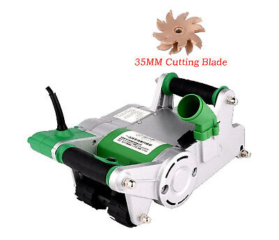 220V Handheld Electric Brick Wall Chaser Floor Wall Groove Cutting Machine 1100W