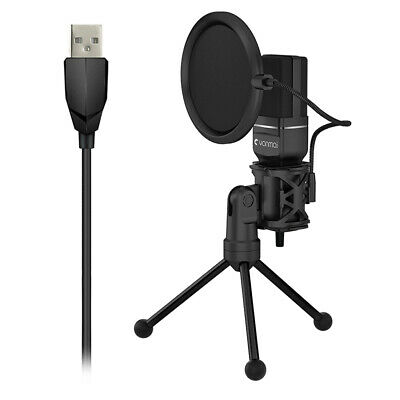 Condenser USB Microphone w / Tripod Stand for Game Chat Studio Recording PC