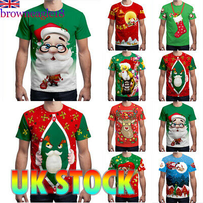 Mens Womens Adults Unisex Novelty Christmas Xmas T-shirt Top Tee Blouse Party