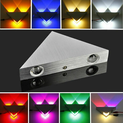 3W 3 LED Up Down Triangle Wall Spot Light Modern Sconce Mirror Fixture Lamp