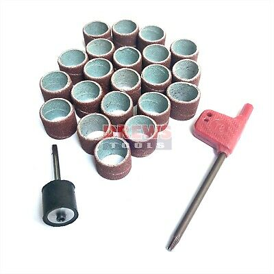 "Sanding Drum Sleeves  22 pcs 1/2"" or 12.7 mm with Torx mandrel and key"