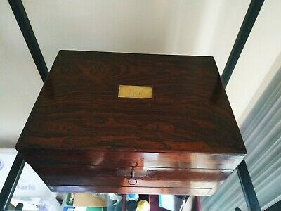 Antique Rosewood Dressing / jewelry box by Joseph Mechi London 1860-70