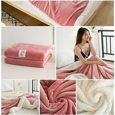 Super Soft Warm Blanket Wedding Office Winter Flannel Wool Blanket Flannel+Wool