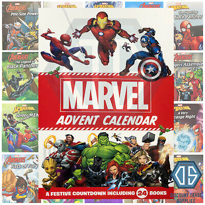 2019 New Marvel Story Book Collection Christmas Advent Calendar with 24 Books