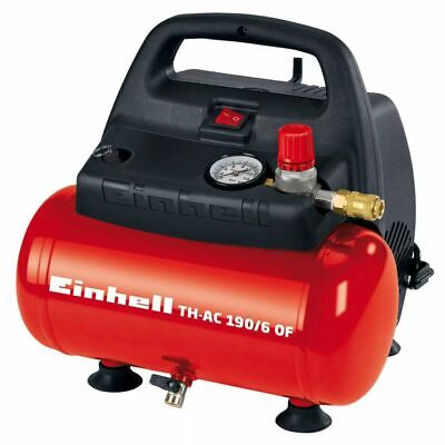 Einhell Luchtcompressor 6 L TH-AC 190/6 OF  Luchtcompressor Hogedrukpomp