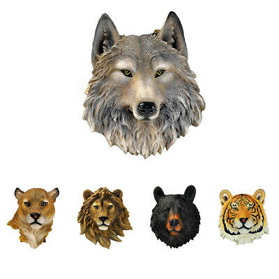 Living Room 3D Synthetic Resin Wolf Leopard Ornament Animal Head Wall Hanging