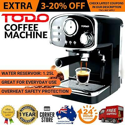 Espresso Coffee Machine Automatic Cappuccino Maker with MILK FROTHER Frothing