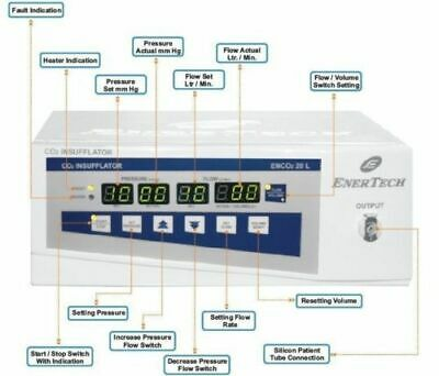 Pro.CO2 INSUFFLATOR 20 ltr. with Air high flow Performance Progressive Unit ZX