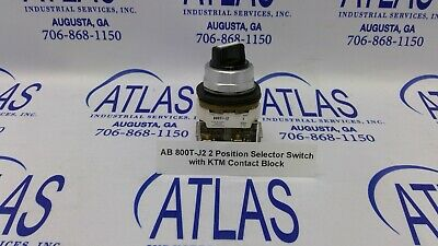 Allen-Bradley 800T-J2 2 Position Selector Switch with KTM Contact Block    (L2)