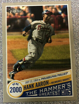 HANK AARON 2019 Topps Heritage High Number THE HAMMER'S GREATEST HITS THGH-14