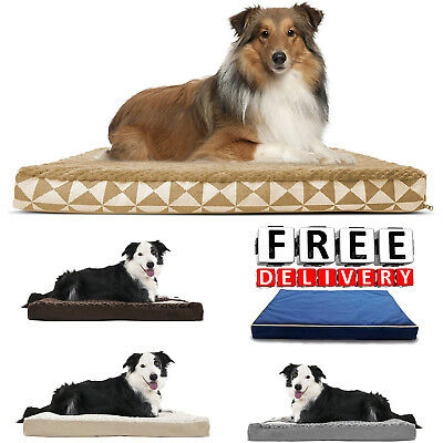 "Memory Foam Dog Bed Pet Large 36"" Orthopedic Top Mattress Topped Cushion"