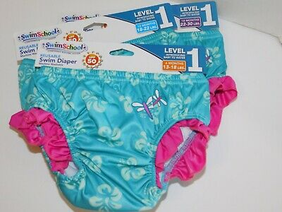 Swim Diapers Girl Reusable 6 12 18 Months Washable