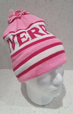 Liverpool Bobble Hat - Pink & White