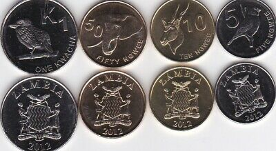 Zambia 1983 1 /& 2 Ngwee 2 Uncirculated Coin Set