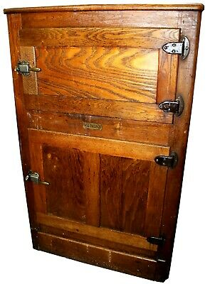 Antique Mission Style Ice Palace Two-Door Ice Box