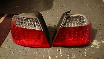 ALL SMOKED LED REAR TAIL LIGHTS LAMPS FOR E46 3 SERIES COUPE 04//1999-03//2003