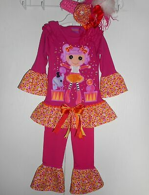 NEW Lalaoopsy 2-piece Outfit with Handmade Ruffles Headband Toddler Girls Size 5