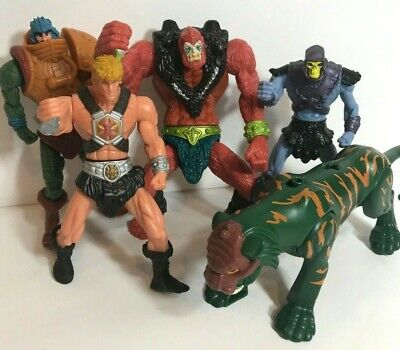 Lot 5 McDonalds MOTU He-Man Beast Man Skeletor Ram Man Cat 2003 Action Figures