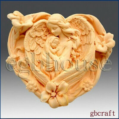Angelheart Mother & Child - Detail of High Relief Sculpture - Silicone