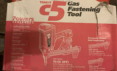 Powers Fasteners TRACK IT c5 Gas Fastening Tool Brand New
