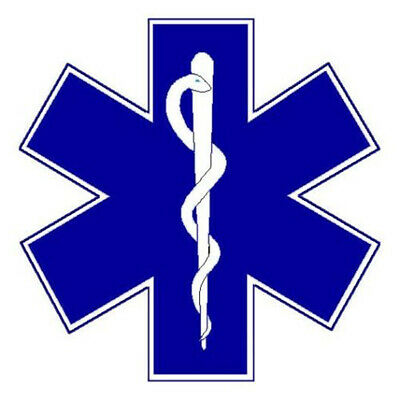 STAR OF LIFE Decal Car Sticker Medical Ambulance First Aid Event Car Cool SignIN