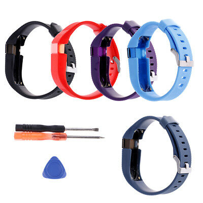 Replacement silicone wristband band bracelet strap tool kit for Fitbit Charge#E