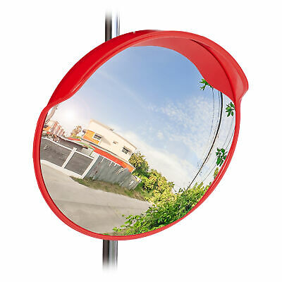 Traffic Safety Mirror, 60 cm; Weatherproof, Unbreakable, Wide Angle Mirror 130°