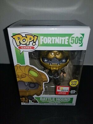 Funko Pop Games #509 Battle Hound Fortnite Glow in the Dark E3 Exclusive