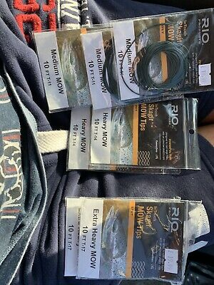 NEW 2019 Stocks Singles or KIT Heavy Rio MOW Tips For Skagit Heads MOWH-