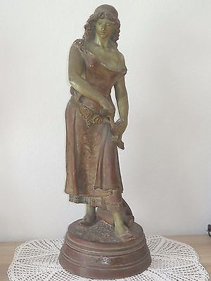 Signed George Charles Coudray - Antique French Terra Cotta Statuette Sculpture