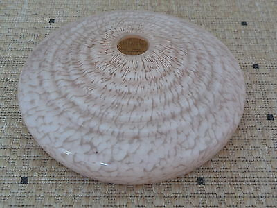 """Antique FRENCH OPALINE GLASS LAMPSHADE 8 1/2"""" - PINK SNOW ON THE MOUNTAIN design"""