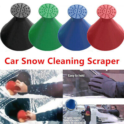 Magical Car Windshield Ice Snow Scraper Remover Tool Cone Shaped Round Funnel