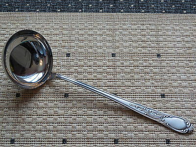 Vintage early 1980 LADLE -  SMS 8/10 INOX antique patina silvered finishing