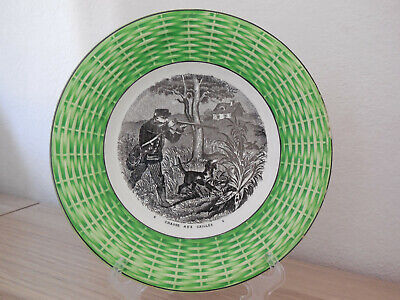Majolica Hunting Plate French Antique 19thC Transferware DIGOIN SARREGUEMINES 6