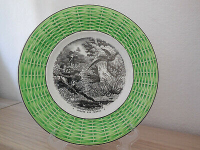 Majolica Hunting Plate French Antique 19thC Transferware DIGOIN SARREGUEMINES 8