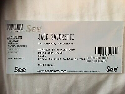 Jack Savoretti ticket - Cheltenham 31 October - x 1