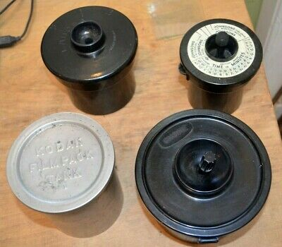 Four Vintage developing tanks - Labora, Johnsons, Gnome, Kodak