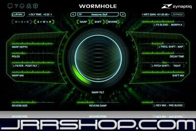 Zynaptiq Wormhole Otherworldly Audio Effects Plugin eDelivery JRR Shop