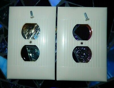 Vintage Sierra PO-8 Jumbo Double Outlet Covers(2) 1Split~VGC~Fast Free Shipping!