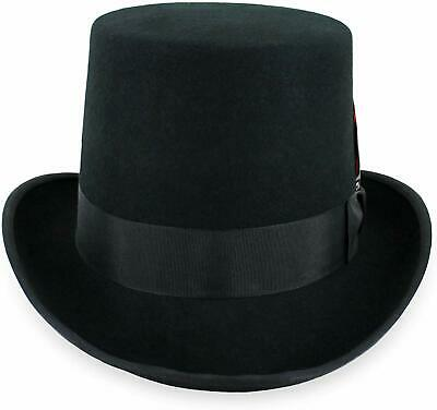 Mens Top Hat Satin Lined Topper By Belfry 100% Wool In Black Grey Navy Pearl