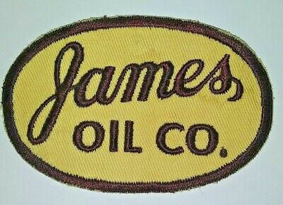 VINTAGE Embroidered Automotive Gasoline Patch UNUSED - JAMES OIL CO