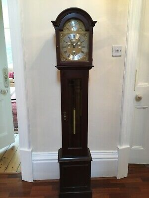 Longcase Grandmother Clock in Mahogany, Westminster Chimes.