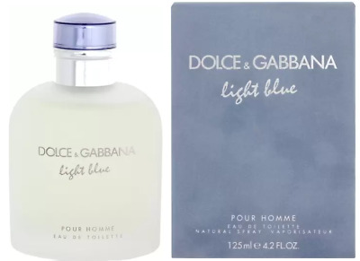 Light Blue Dolce & Gabbana Men 4.2 oz 125ml EDT Cologne Spray BRAND NEW & SEALED